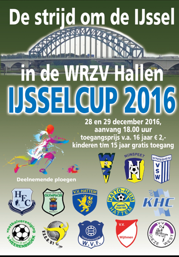 zaalvoetbal zwolle poster 2016 IJsselcup