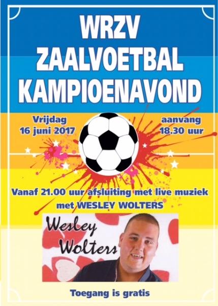 zaalvoetbal zwolle poster kampioensavond